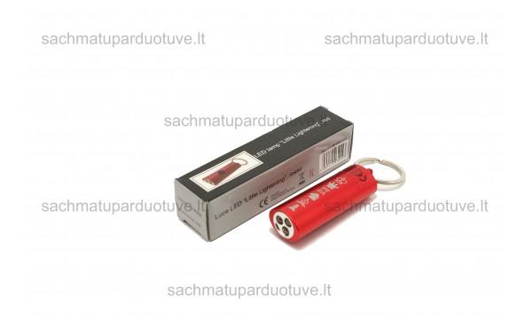 LED žibintuvėlis (raudonas)
