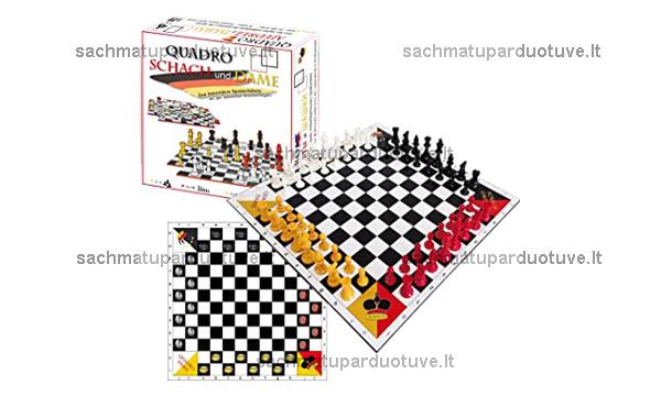 Šachmatai ir šaškės keturiems
