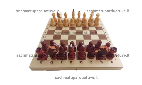 Lakuotų šachmatų komplektas